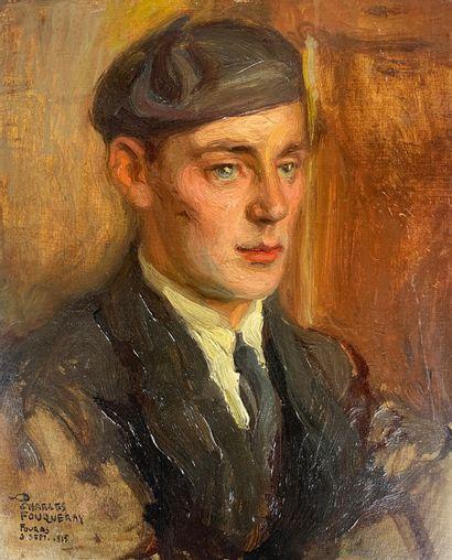 Charles FOUQUERAY (1869-1956)  Portrait de...