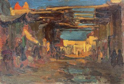 Charles FOUQUERAY (1869-1956)  Les souks...