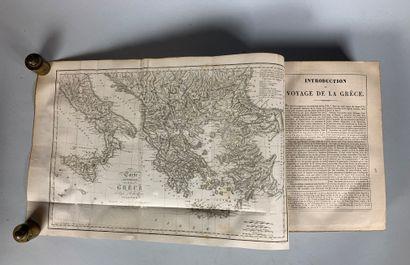 Lot de quatre livres :  - Chateaubriand, itinéraire de Paris à Jérusalem, édition...