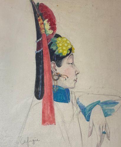 Léa LAFUGIE (1890-1972)  Portrait de femme...