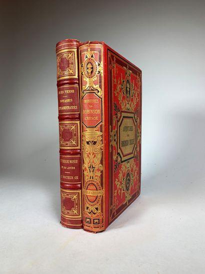 Lot de deux livres :  - Jules Vernes, Voyage...