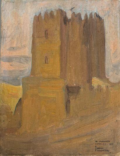 Charles FOUQUERAY (1869-1956)  La tour de...