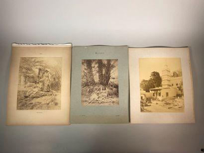 Lot de quinze photographies sur l'Algérie (Biskra, Alger, Blidah, El Kantara, Constantine,...