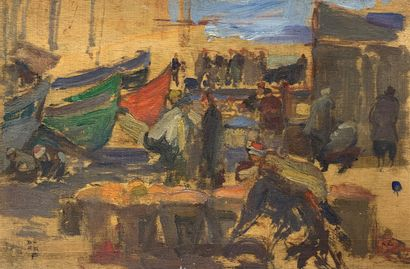 Charles FOUQUERAY (1869-1956)  Un port de...