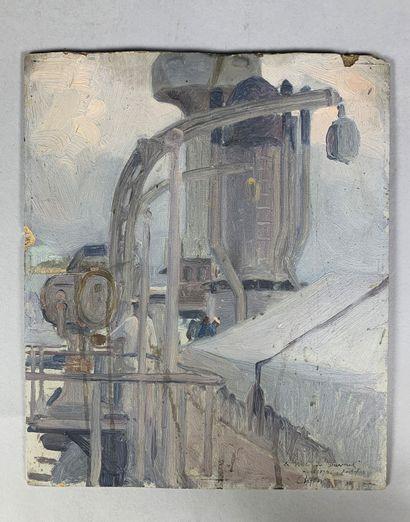 Charles FOUQUERAY (1869-1956)  Le pont du...
