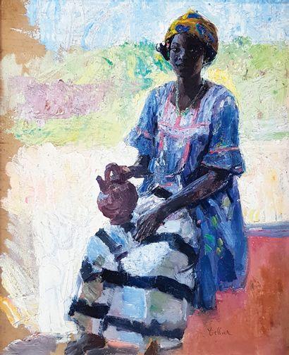 Raymond TELLIER (1897-1985)  L'Africaine...