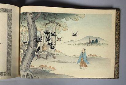 Fables choisies de Florian. Imprimé sur papier japonais Tori Noko et plié à la japonaise....