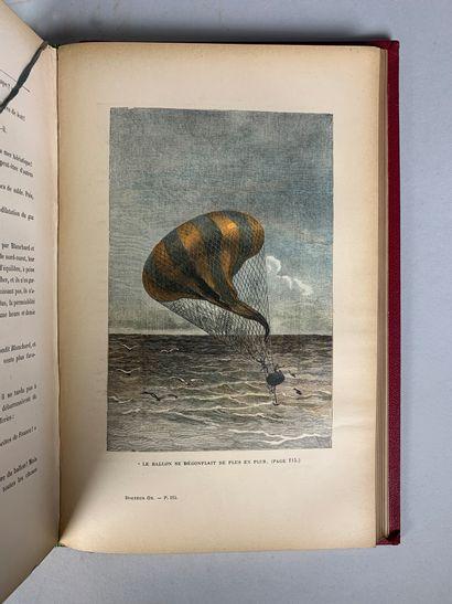 Lot de deux livres :  - Jules Vernes, Voyage extraordinaire, Le Tour du Monde en...