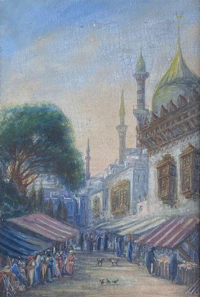Ecole du XIXe siècle  Ruelle aux minarets....