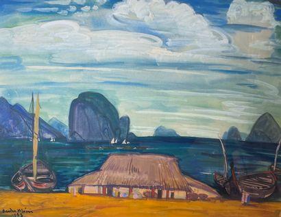 André MAIRE (1898-1984)  Baie d'Along, 1953....