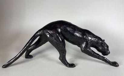 Jorge BORRAS (né en 1952)  Panthere noire....