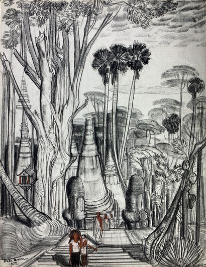 André MAIRE (1898-1984)  Siem Reap, la pagode,...