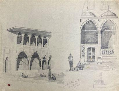 André LAGRANGE (1889-1958)  Lot de onze dessins...