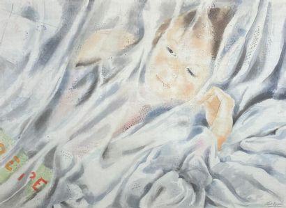 Alix AYMÉ (1894-1989)  La sieste.  Couleurs...