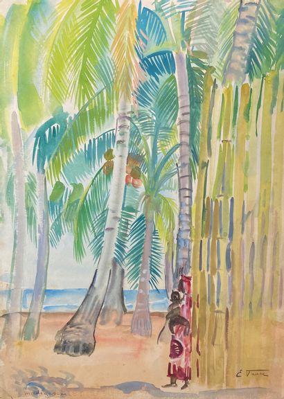Elisabeth FAURE (1906-1964)  Femme de Madagascar...