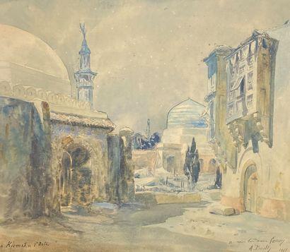 Alexandre BAILLY (1866-1949)  Ruelle à Kismet,...