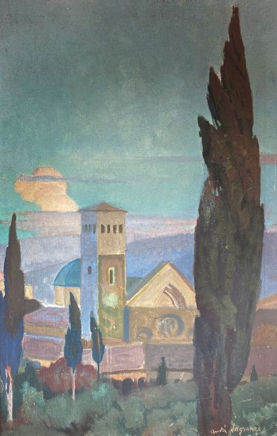 André LECOMTE (XIXe - XXe siècle)  La mosquée...