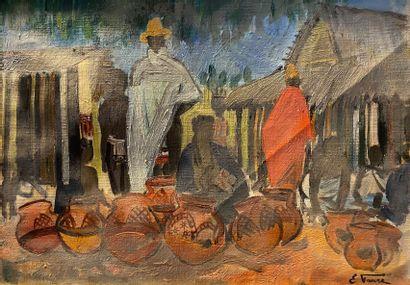 Elisabeth FAURE (1906-1964)  Potiers à Madagascar....