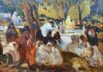 André SURÉDA (1872-1930)  Femmes arabes au...
