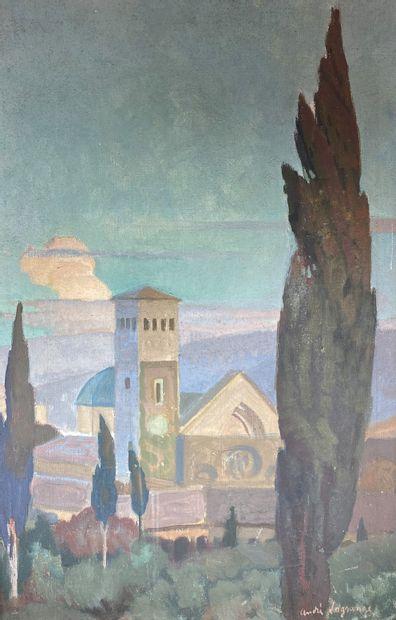 André LAGRANGE (1889-1958)  Fiesole à la...