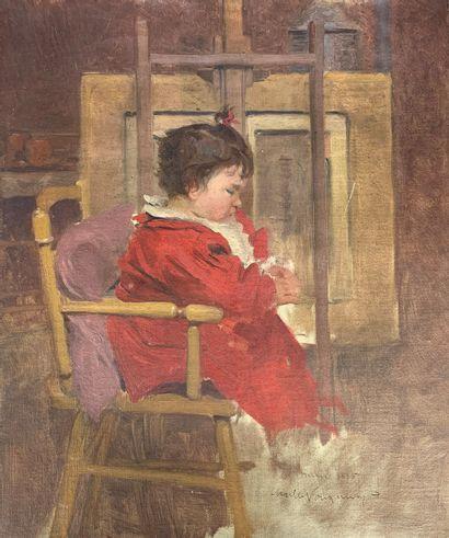 Charles FOUQUERAY (1869-1956)  Portait d'Anne...