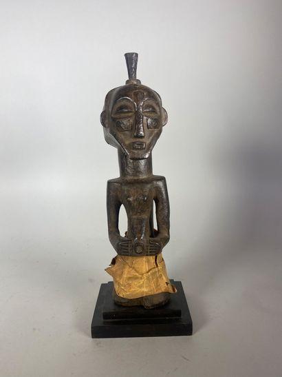 Ancien fétiche Songye en bois sculpté, quelques...