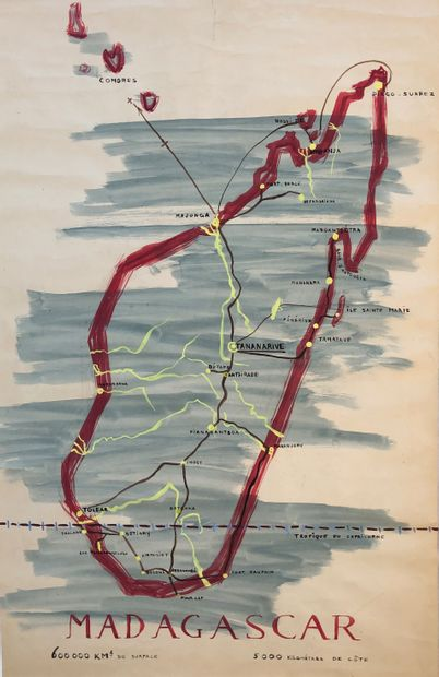 Elisabeth FAURE (1906-1964)  Projet d'affiche...