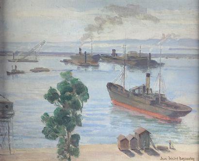 Jean-Désiré BASCOULES (1886-1976)  Le port...