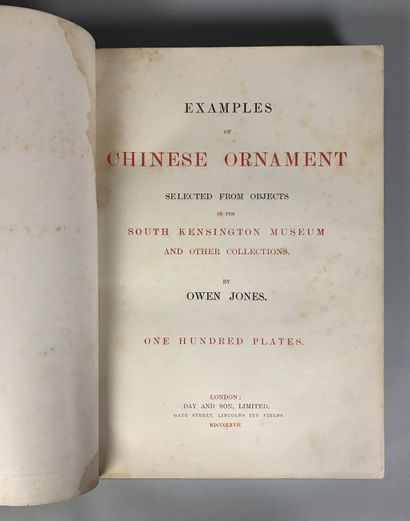 Examples of chinese ornament selected from objects in the kensington museum and...
