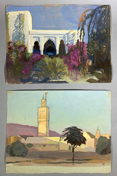 André LAGRANGE (1889-1958)  Vue de ville...
