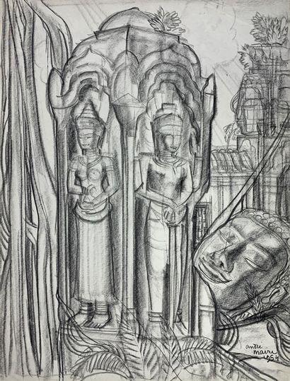 André MAIRE (1898-1984)  Angkor Thom, 1954....