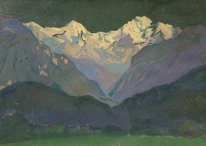André LAGRANGE (1889-1958)  La Jungfrau,...