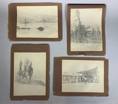 André LAGRANGE (1889-1958)  Lot de dix dessins...