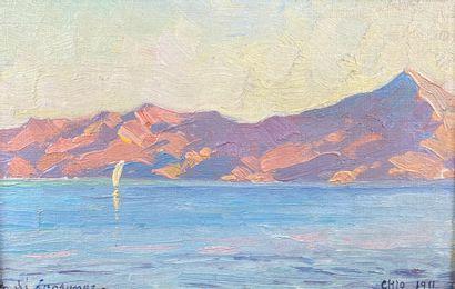 André LAGRANGE (1889-1958)  Vue de Chio,...