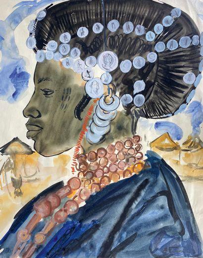 Elisabeth FAURE (1906-1964)  Portrait de...