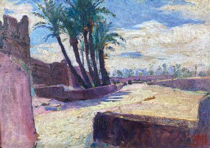 François PYCKE (1890-1960)  Les palmiers....