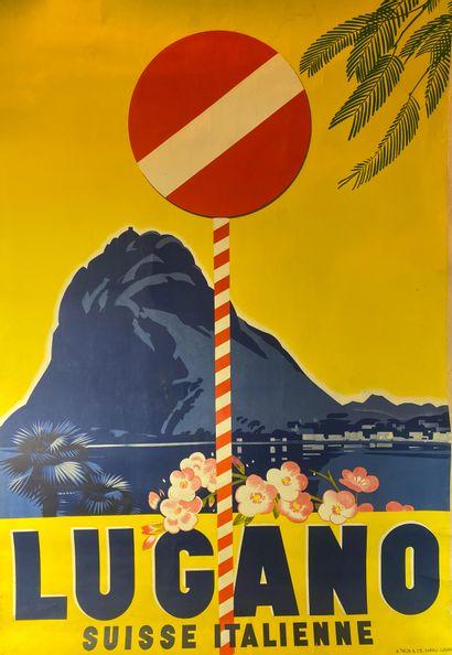 Lugano, Suisse italienne. Affiche lithographique...