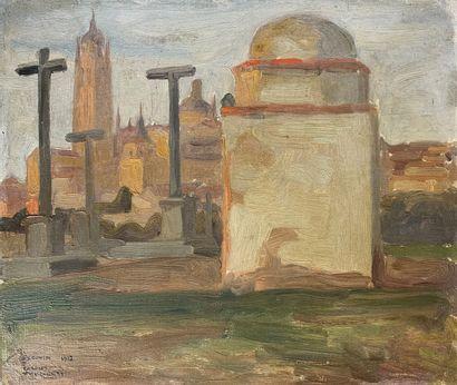 Charles FOUQUERAY (1869-1956)  Ségovie, cathédrale...