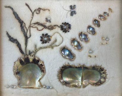 La culture de l'huitre perlière.  Tableau...