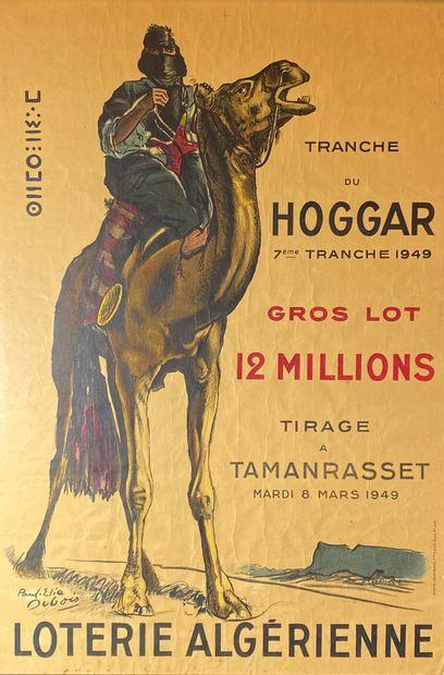 Paul Elie DUBOIS (1886-1949)  Loterie algérienne.  Affiche lithographique en couleurs...