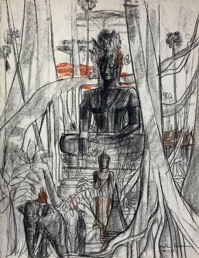 André MAIRE (1898-1984)  Eléphant et cornac...
