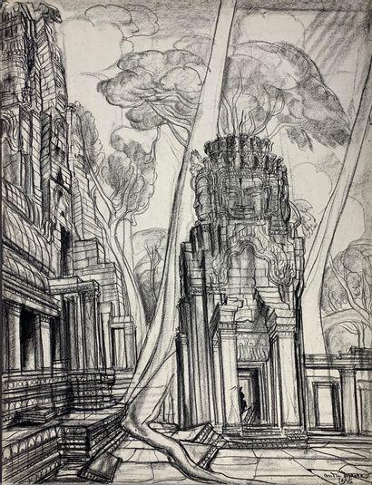 André MAIRE (1898-1984)  Angkor Thom, 1955....