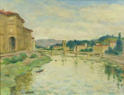 Armand ASSUS (1892-1977)  Vue de l'Arno à...