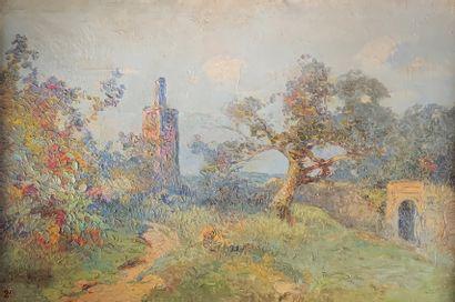 Marius HUBERT ROBERT (1885-c.1947)  Vue du...