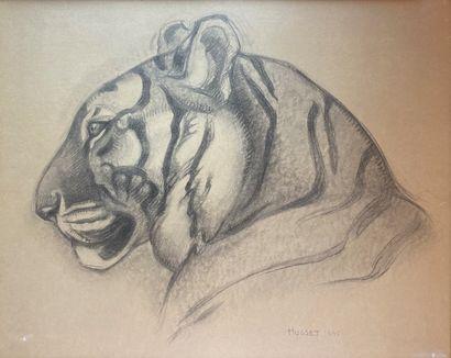 Henri Robert HUSSET (1907-?)  Tigre, 1941....