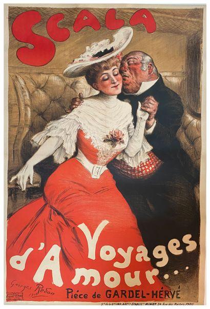 Georges REDON (1869-1943)  Scala, Voyage...