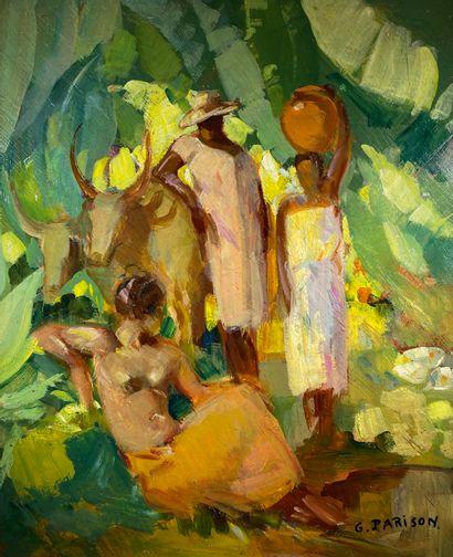 Gaston PARISON (1889-1959)  Détente au point...