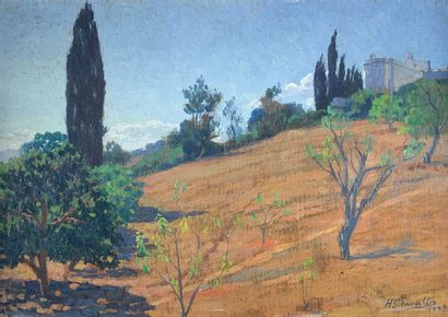 Henry CHEVALIER (1886-1945)  Maison à El-Biar,...