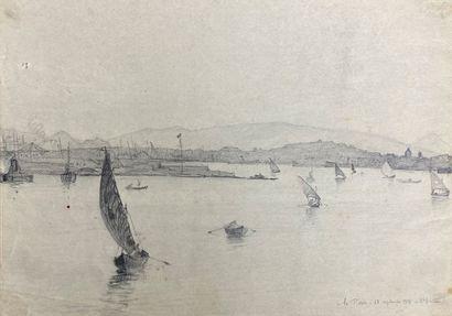 André LAGRANGE (1889-1958)  Lot de six dessins...