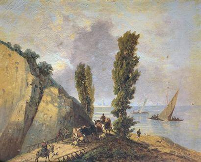 Ecole du XIXe siècle  Bord de Méditerranée...